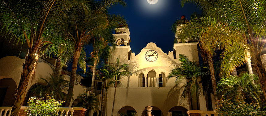 Burrage Mansion and the Moon